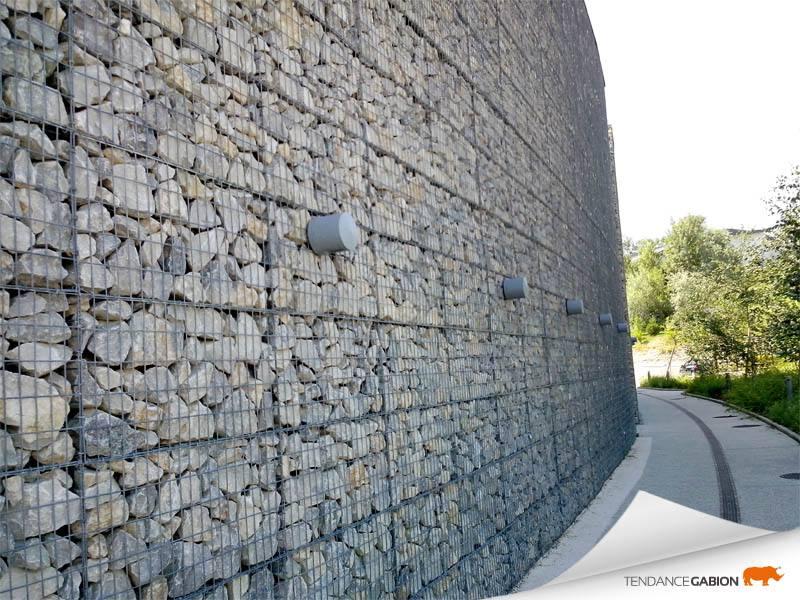 Parement et habillage de mur en gabion tendance gabion for Habiller un mur en pierre