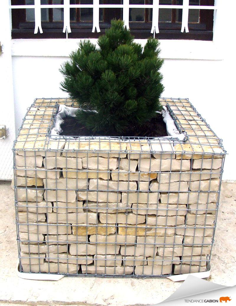 jardiniere 1 modified tendance gabion le gabion pro pour tous. Black Bedroom Furniture Sets. Home Design Ideas