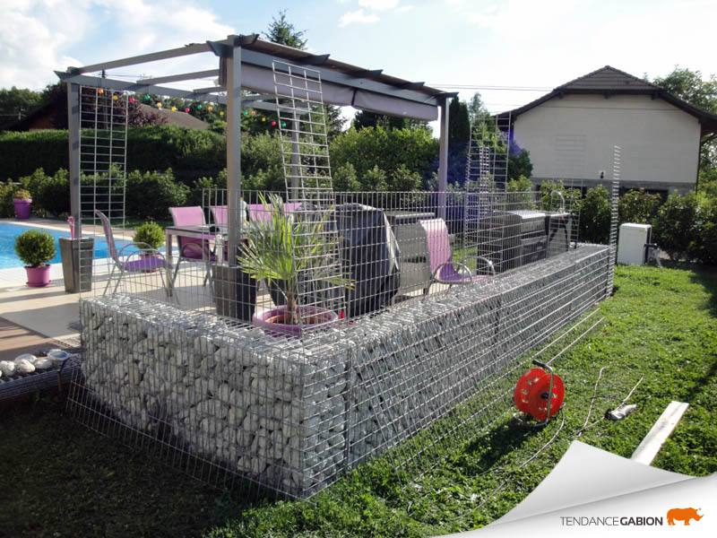 tendance gabion muret terrasse haute savoie piscine. Black Bedroom Furniture Sets. Home Design Ideas
