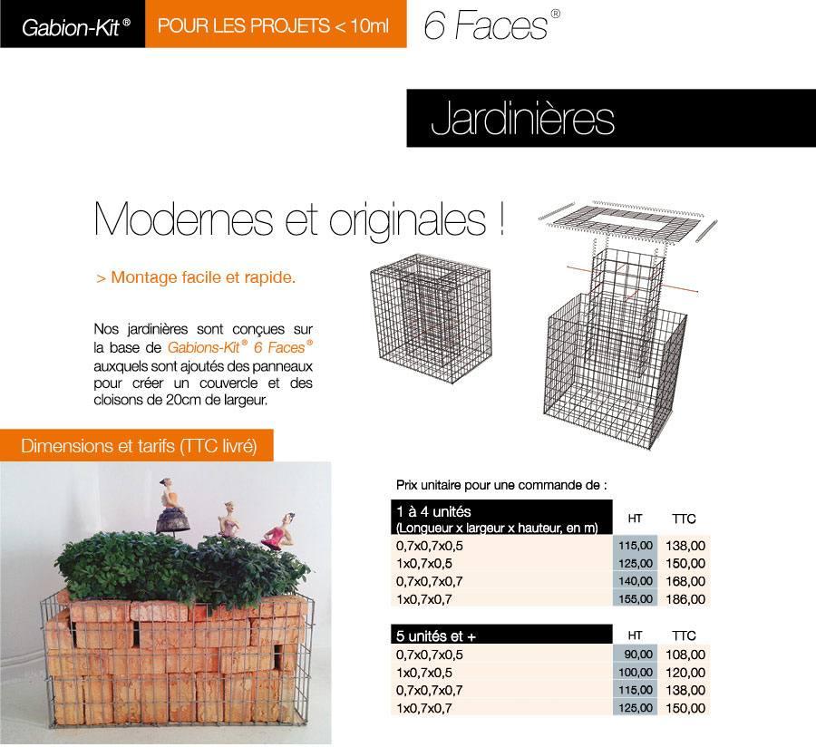 Le Gabion-Kit® 6 Faces® Jardinière