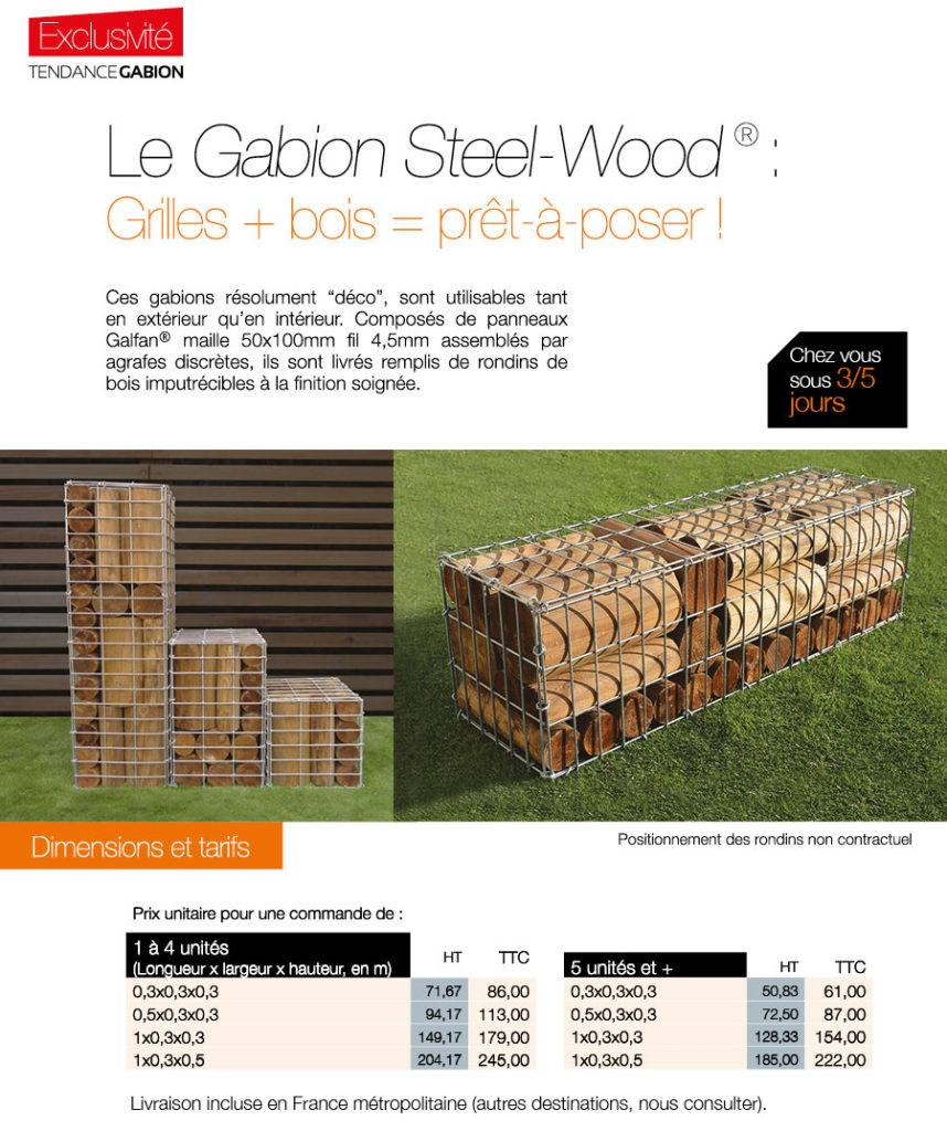Produit : Gabion Steel-Wood®