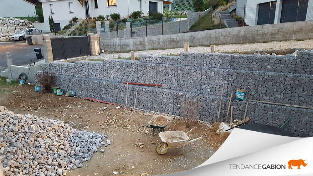 Mur de soutènement avec décalage - Drôme