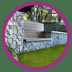 Les gabions sont utilisés en décoration et mobilier de jardin