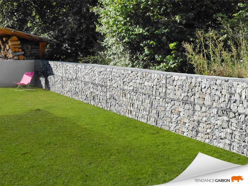 Tendance gabion, petit mur de séparation