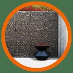Les gabions sont utilisés pour faire des murets et murs de séparation