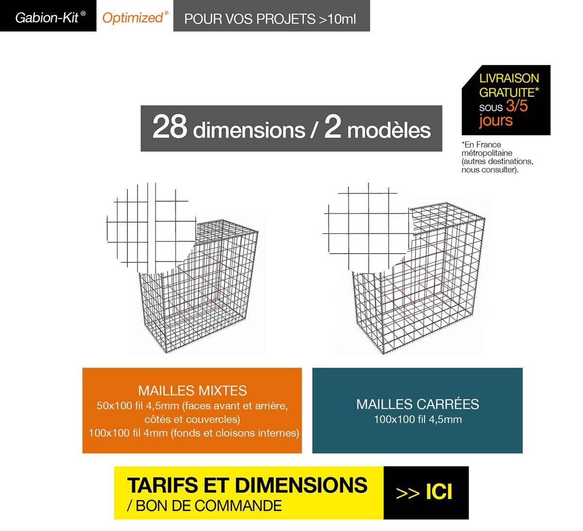 Le Gabion-Kit® Optimized® : Murs de clôture