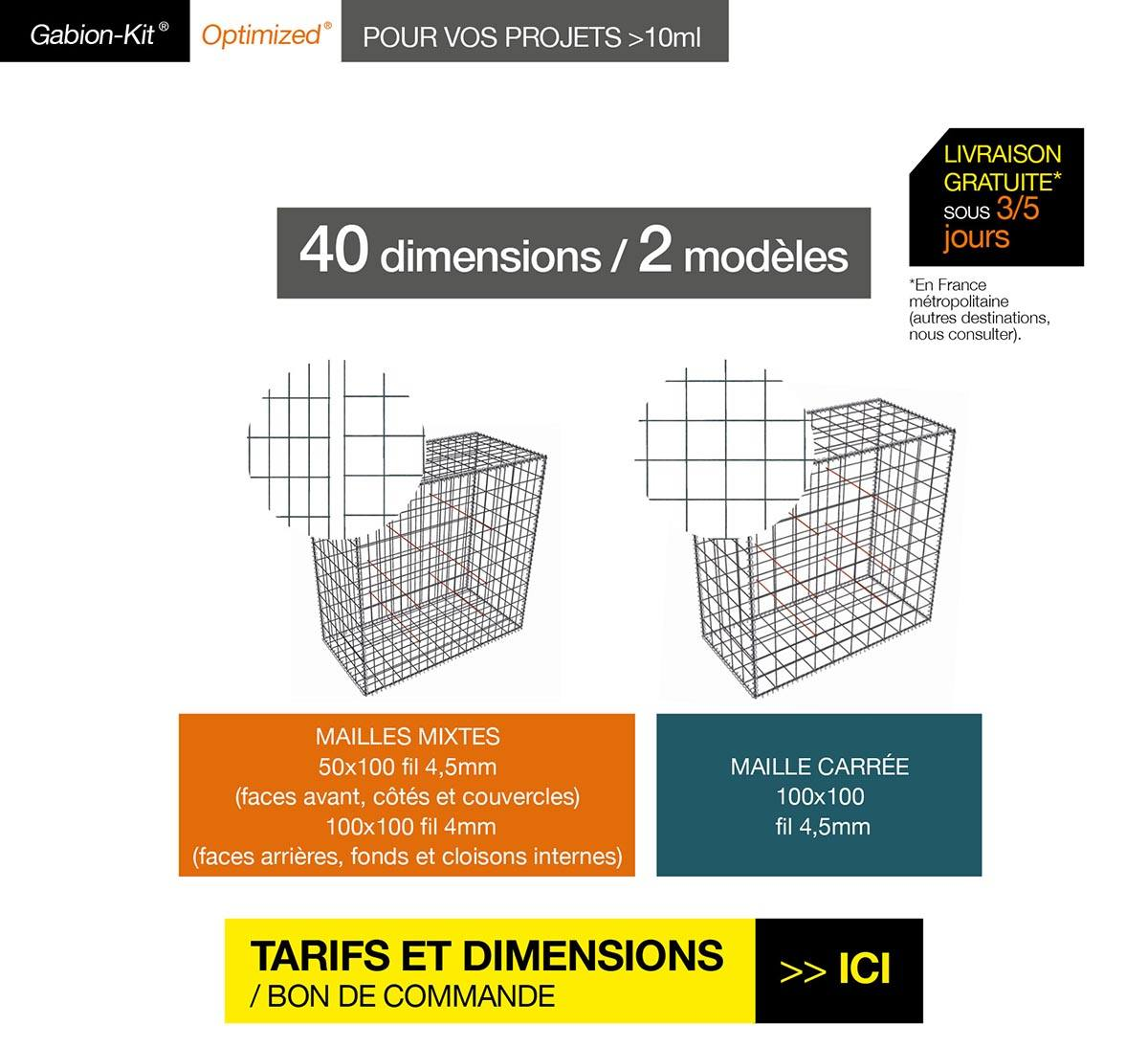 Le Gabion-Kit® Optimized® : Murs de soutènement