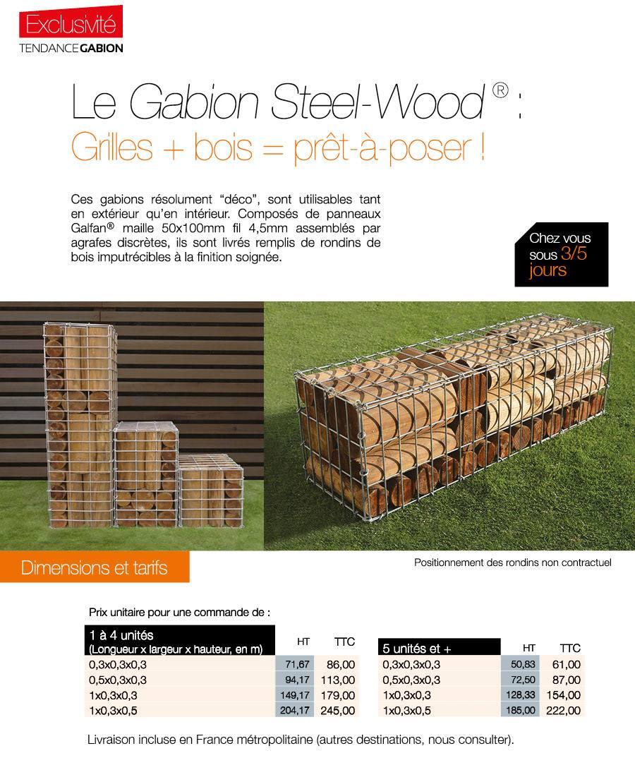 Produit : Gabion Steel-Wood®