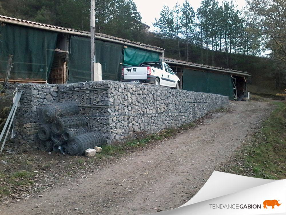 Mur de soutènement avec surcharge - Drôme