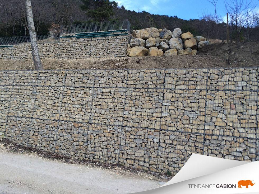 Mur de soutènement 2,5m - Drôme