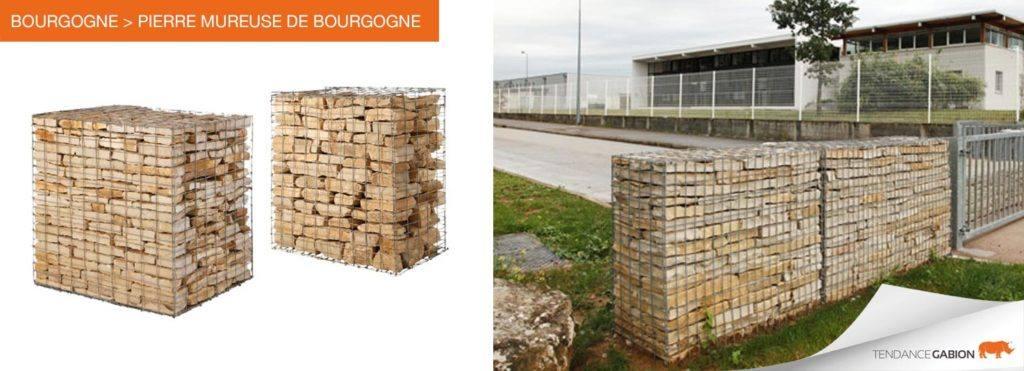 Gabion pré-rempli / Pierre Mureuse de Bourgogne / Tendance-Gabion / 06